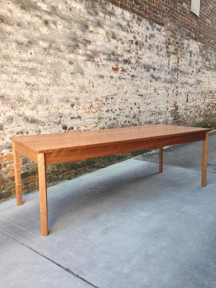 """Cherry Dining Table, Seats 8 comfortably, 8' long, 30"""" wide"""